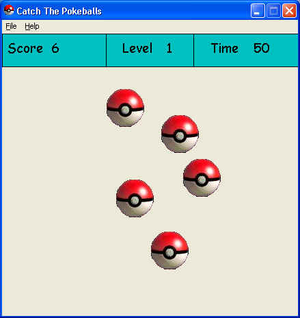 Catch The Pokeballs Game