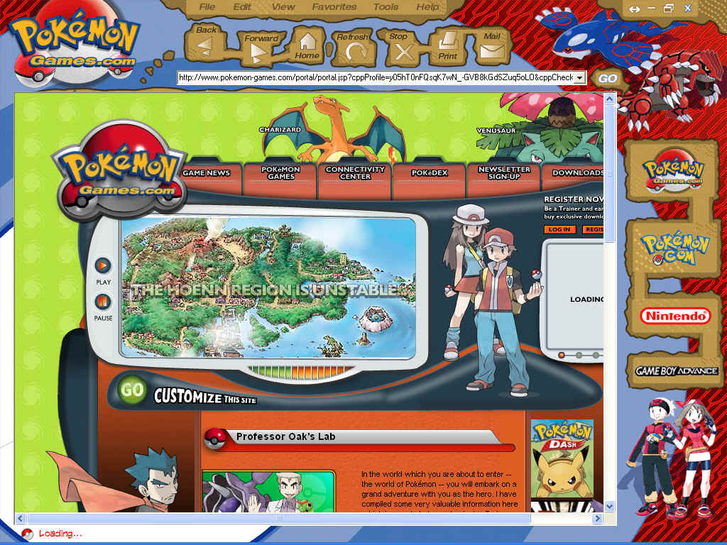 Pokemon browser (Ruby and Sapphire)
